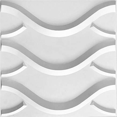 Ekena Millwork WP20X20NXWH-CASE-10 Nexus EnduraWall Decorative 3D Wall Panel, 19 5 8 W x 19 5 8 H, White, 10 Each