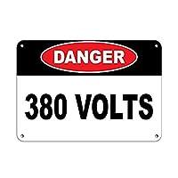 危険380ボルト メタルポスタレトロなポスタ安全標識壁パネル ティンサイン注意看板壁掛けプレート警告サイン絵図ショップ食料品ショッピングモールパーキングバークラブカフェレストラントイレ公共の場ギフト