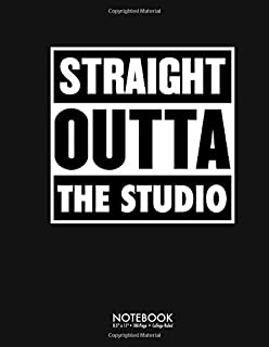 Straight Outta The Studio Audio Engineer: 100 Page College Ruled Diary Journal Notebook Lined Notes Blank Paper Write Comp...