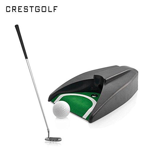 Crestgolf Auto Putt Returner mit Führungskugel mit Putter + Ball + Tasche + automatischem Rückschlag Putting Cup Gerät