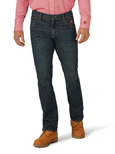 Wrangler Men's Flame Resistant Slim Fit Straight Leg Jean, New Castle, 33W x 30L