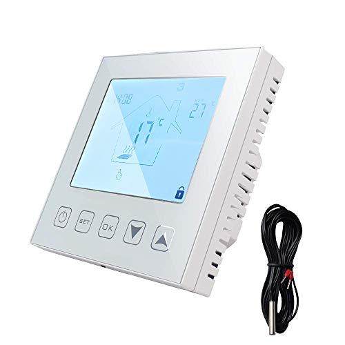 Termostato digital programable para calefacción por suelo radiante, pantalla LCD, 16 A, 90-250 V