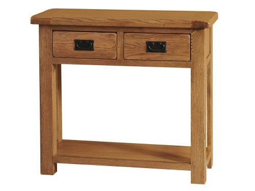 Morriswood Konsolentisch mit 2Schubladen aus rustikalem Eichenholz