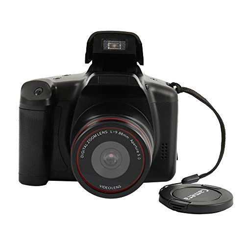 """Wrighteu Cámara Réflex Digital 4X de Fotos Pantalla LCD 2.4"""" Full HD Color Negro Sensor CMOS"""