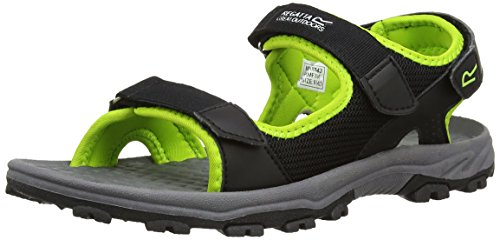 Regatta Terrarock - Sandales - Homme (44 EU) (Noir/Vert Citron)
