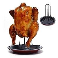 [Construction Robuste Et Rcobuste En Acier Inoxydable] La grille de rôtissage et la rôtissoire pour poulet sont faites d'acier inoxydable unique, elles ont une résistance et une durabilité supérieures. Elles peuvent contenir environ 4 à 5 lb de poule...