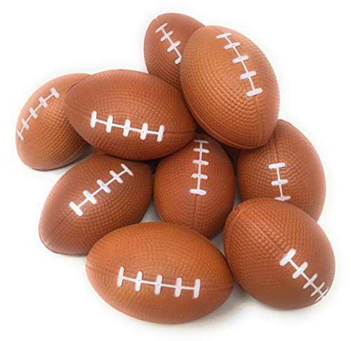 """Funiverse Bulk 25 Pack 4"""" Foam Football Stress Ball - Perfect Tailgating Party Decoration or Giveaway"""