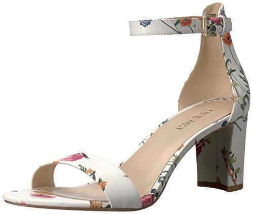 NINE WEST Damen Pruce Patent Dress Sandale, Weiá (Weiß/Mehrfarbig), 41 EU