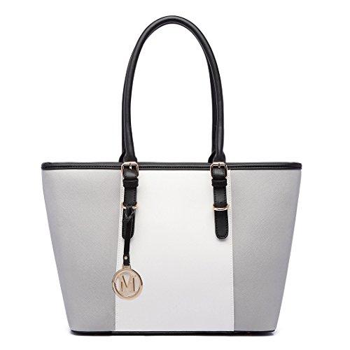 Miss Lulu Damen Handtasche Damen Designer Promi-Stil Schulter Shopper Tasche mit Verstellbarem Griff