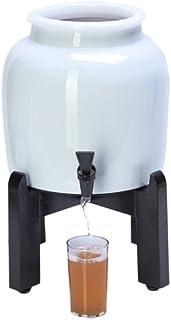Kombucha Continuous Brew Ki - Drink Kombucha Tea On Tap Includes 2.5 Gallon Porcelain Brewing Vessel w/Handcrafted Wood Br...