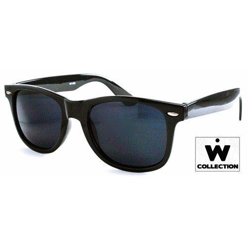Daylee Naturals Wayfarer Classic Black 80's Style Sunglasses Uv400
