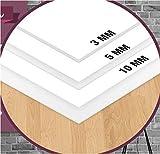 STOCK DA 3 PEZZI - FOREX PANNELLO LASTRA PVC BIANCO - VARI SPESSORI E DIMENSIONI ALTA QUALITA' - IDEALE PER STAMPA RIVESTIMENTI O MODELLISMO - LEGGERO E RESISTENTE SPESSORE 10 mm 20 x 30 mm