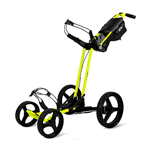 Sun Mountain Pathfinder 4 Golf Push Cart Atomic Yellow