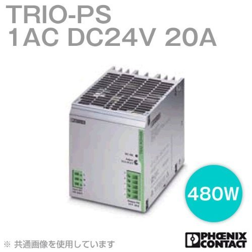 TRIO-PS/1AC/24DC/20, Primary-Switched Trio Power Power Supply for DIN Rail mounting, Input: 1-Phase, Output: 24 V DC/20 A
