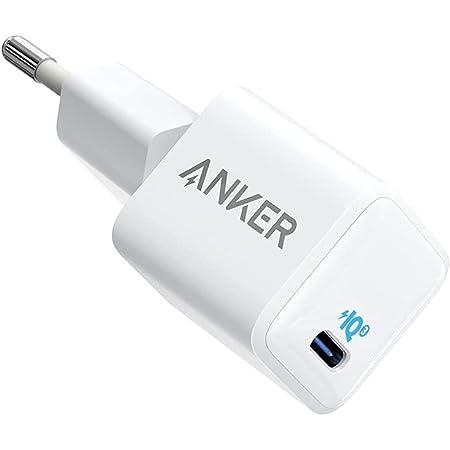 Anker Cargador Nano para iPhone, 20 W, PIQ 3.0, cargador compacto, PowerPort III, fuente de alimentación USB-C para iPhone 12/12 Mini/12 Pro/12 Pro Max, Galaxy, Pixel 4/3, iPad Pro, AirPods Pro, y más