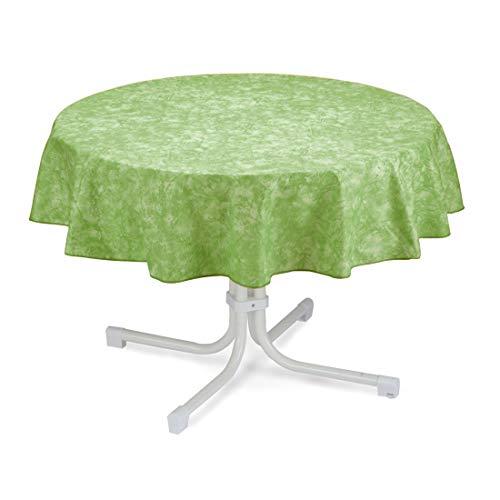 BEST 09820690 Tischdecke rund 160 cm, grün