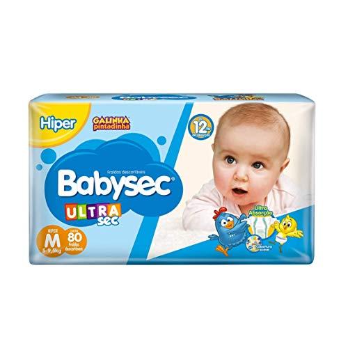 Fralda Babysec Ultrasec Galinha Pintadinha, M,80 unidades