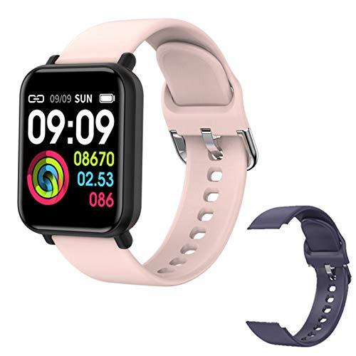 IP68 Impermeable Smartwatch Hombre Ejercicio Monitor Monitor Monitor DE Ladies Fitness Rastreador Reloj R7 Bluetooth Smart Watch para Android iOS,M