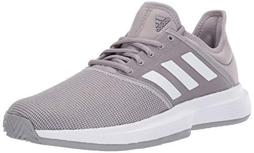 adidas Women's Gamecourt, Light Granite/White/Grey, 9 M US
