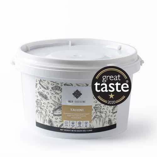 Med Cuisine Tahini - 2.5kg - Natural al 100% Pasta di Sesamo - Provenienza Humera - Vegano, Senza Glutine, Senza Frutta a Guscio & Kosher