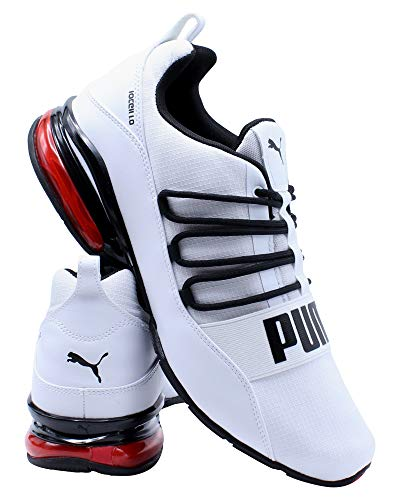 PUMA Mens Cell Regulate, Puma White-puma Black-high Risk Red, 11