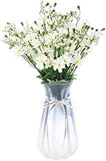 Gumolutin 4 PCS Artificial Flowers Silk Sunflower Daisy Flower Bouquet for Home Table Centerpieces Arrangement Office Wedding DIY Decoration, White