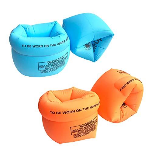 2 Paar Schwimmflügel Kinder,Schwimmen Schwimmflügel Lernen Armbands Flotation Aufblasbare Arm Bands für Kind für Kinder ab 2-8 Jahre