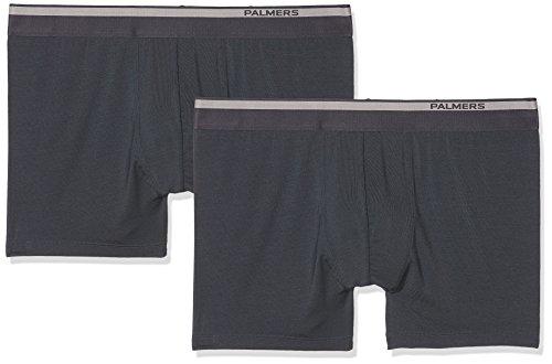 Palmers Herren Authentic Modal Pants Doppelpack Boxershorts, Grau (Anthrazit 905), X-Large (2er Pack)