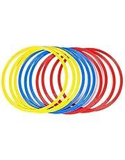 paletur88 Innovaciones Velocidad y Entrenamiento de Agilidad Anillos Agilidad Aros para Entrenamiento Fútbol Soccer Tenis Baloncesto - Juego de 12pcs 14-16 Pulgadas Diámetro