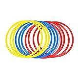 paletur88 Innovaciones Velocidad y Entrenamiento de Agilidad Anillos Agilidad Aros para Entrenamiento Fútbol Soccer Tenis Baloncesto - Juego de 12pcs 14-16 Pulgadas Diámetro (Multicolor)