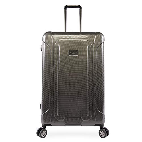 ORIGINAL PENGUIN Luggage Crest 29' Hardside Check in Spinner, Charcoal, One Size