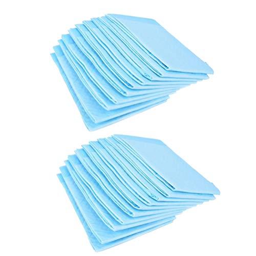 Hemoton 30Pcs 60x90cm Disposable Urinary Incontinence Nursing Pad Adults Diaper Pee Absorbing Mat Urine Bed Pads