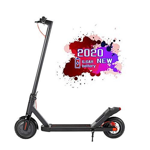 """OUXI 350W Elektroroller mit 8,5\""""gepolsterten Reifen, Bis zu 25 km/h, einfaches Fold-n-Carry-Design, ultraleichter e Scooter für Erwachsene (schwarz, 7.8ah)"""