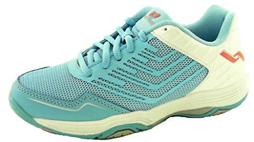 Pro Touch Damen Rebel 3 Volleyball-Schuh, Blue Light/White/R, 42 EU