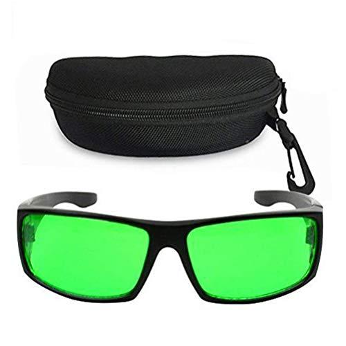Derlights Indoor Grow Light Brille, Growing Hydroponics LED Grow Room Schutzbrille mit Anti-UV- und Farbkorrektur, Pflanzenlampe Brille für Intensive LED-Beleuchtung im Gewächshaus