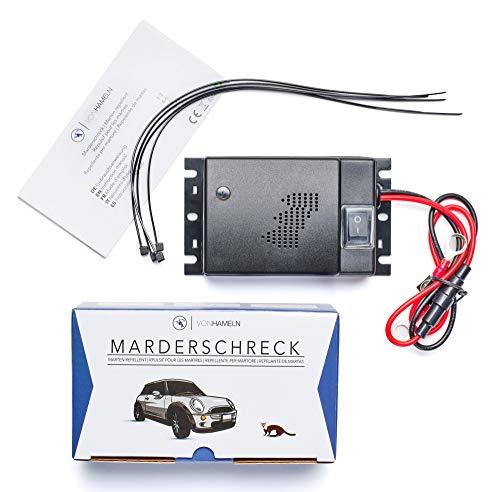 VON HAMELN® Marderschreck Auto - 1 STÜCK - Effektive Marderabwehr Auto mit Ultraschall - Sofortiger & langfristiger Marderschutz im Motorraum