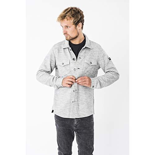 super.natural Herren M Knit Jacket Jacke, Hellgrau, S EU