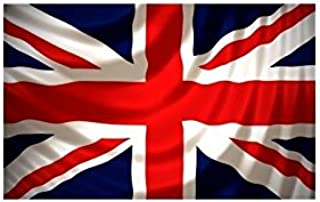 Union Jack Smiley Face Flag 5ft x 3ft 75d Premium Polyester Suitable For Flagpoles