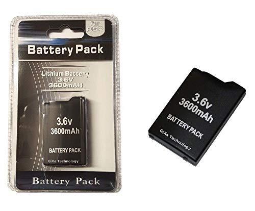 GiXa Akku 3600mAh Ersatz Akku für PSP 1000 1004 PSP-110 Sony Playstation Portable