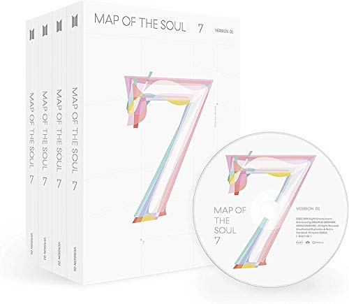 BTS MAP of The Soul : 7 - [Random ver.] CD,Photobook, Folded Poster, Others with Extra Decorative Sticker Set, Photocard Set