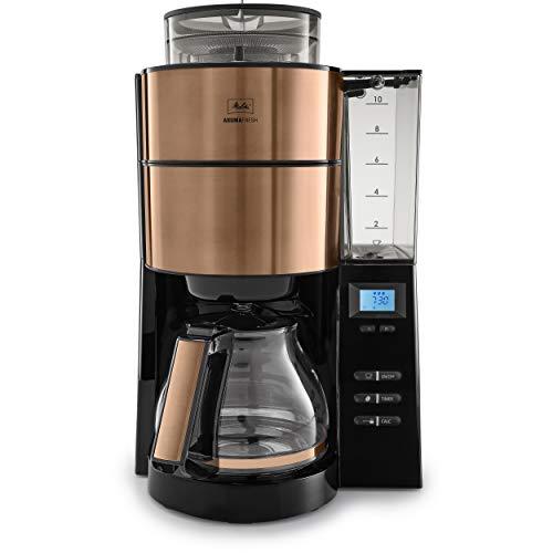 Melitta Aroma Fresh Kaffeemaschine inkl. Mahlwerk und abnehmbaren Wassertank, kupfer
