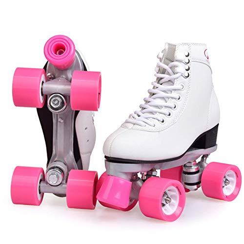 Zjcpow Roller Skates Adulto Top del Alto de Cubierta al Aire Libre del Patio de los Patines con un Fuerte chasis Duradero, Regalo de cumpleaños de los Chicas, de 37 años xuwuhz