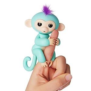 WowWee - Fingerlings Interactivo bebé mono, Turquesa (3706)