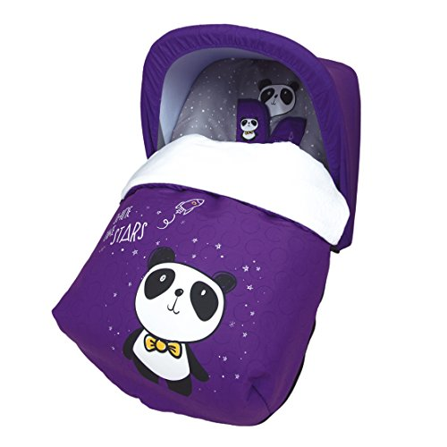 OriginalBaby - Sac porte-bébé polaire universel avec capote intégrée