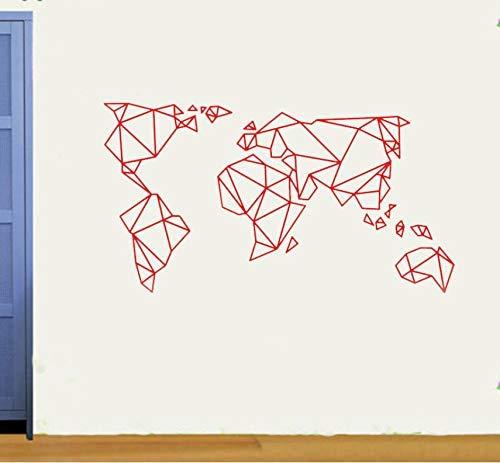 57X31Cm Wandtattoo Origami Große Weltkarte Wandaufkleber Wandbild Für Wohnzimmer Schlafzimmer Wandkunst Möbel Aufkleber A.