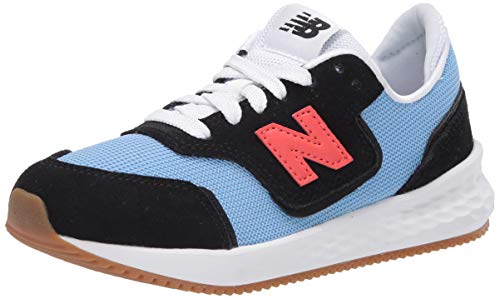 New Balance Boy's Fresh Foam X70 V1 Lace-Up Sneaker, Black/Team Carolina, 6.5 Big Kid