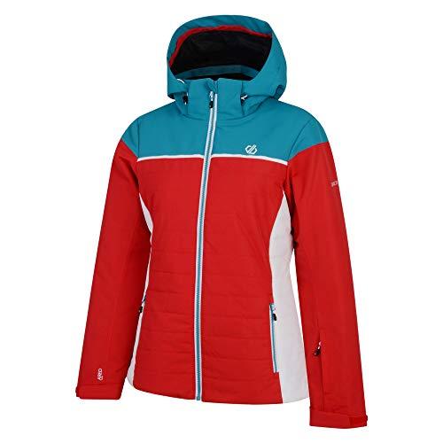 Dare 2b Damen Sightly Waterproof & Breathable Quilted Silhouette Ski & Snowboard Jacket with High Loft Insulation and Taped Seams wasserdichte, isolierte Jacken, Lollipop/Süßwasserblau, 40