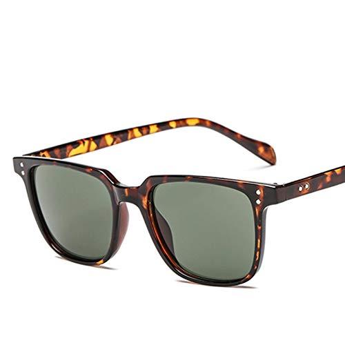Único Gafas de Sol Sunglasses Gafas De Sol Retro Vintage para Hombre, Nuevas Gafas De Sol De Diseñador Cuadradas para Ho