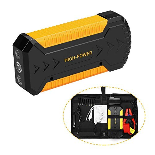 Best Prices! PBQWER 12V Portable Car Jump Starter Supercap Booster Pack 600A Peak 88000Mah Instant S...