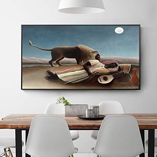 Frameloze schilderij HD moderne Nordic stijl slapen zigeuner canvas schilderij muur kunst voor woonkamer woondecoratieZGQ2485 40X70cm